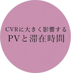 CVRに大きく影響するPVと滞在時間