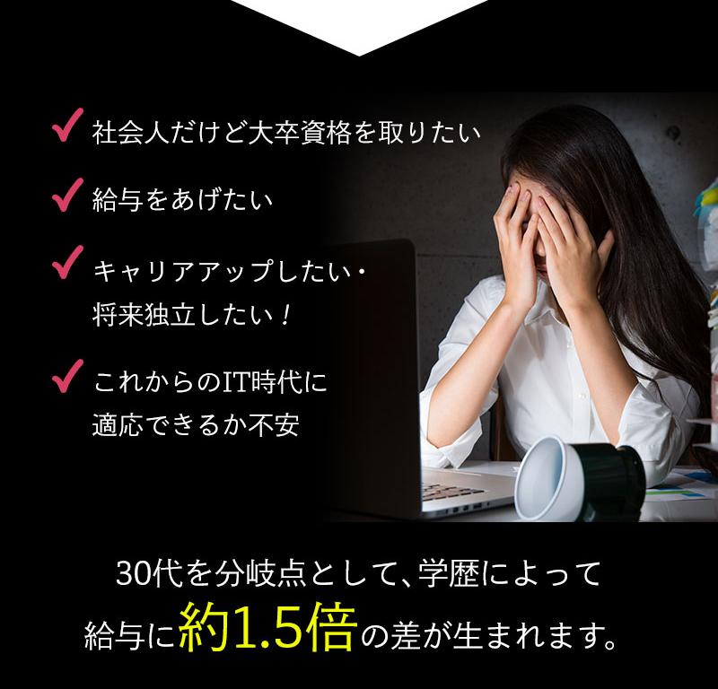 インターネット通信制大学の資料請求用ランディングページ(LP)デザイン・制作事例02